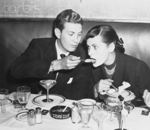 Mr. and Mrs. Harry Cushing Eating Ice cream